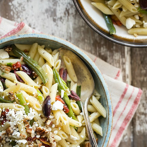 Roasted Garlic Green Bean Pasta Salad