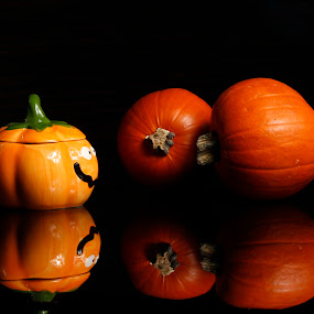 Hey friend, this is our next life? by Cristobal Garciaferro Rubio - Public Holidays Halloween ( reflection, red, pumpkin, pumpkins, fruits, pwcpumpkins, reflections, halloween )