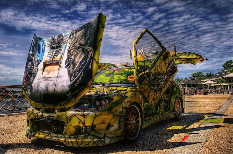 Transformer car by Mohamad Sa'at Haji Mokim - Transportation Automobiles ( car, hdr )