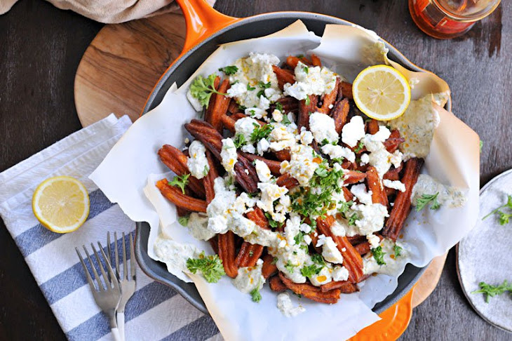 greek sweet potato fries with curried tzatziki (GF) Recipe | Yummly