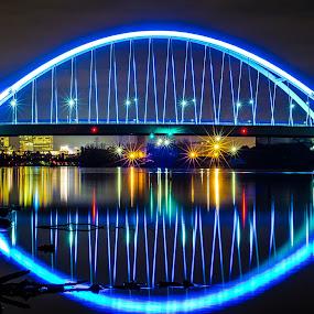 Arc de Lowry by Jeremy Jordan - Buildings & Architecture Bridges & Suspended Structures ( minnesota, blue, minneapolis, bridge, nikon )