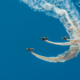 Going Up! by Johan Jooste Snr - Transportation Airplanes ( aeroplanes, performance, pitts biplanes, display, smoke, air show, namibia )