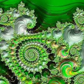 Green Pattern by Capucino Julio - Illustration Abstract & Patterns ( abstract, pattern, green, art, fractal )