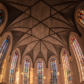 Katharinenkirche by Ole Steffensen - Buildings & Architecture Places of Worship ( hessen, frankfurt am main, church, germany, katharinenkirche, stained glass )