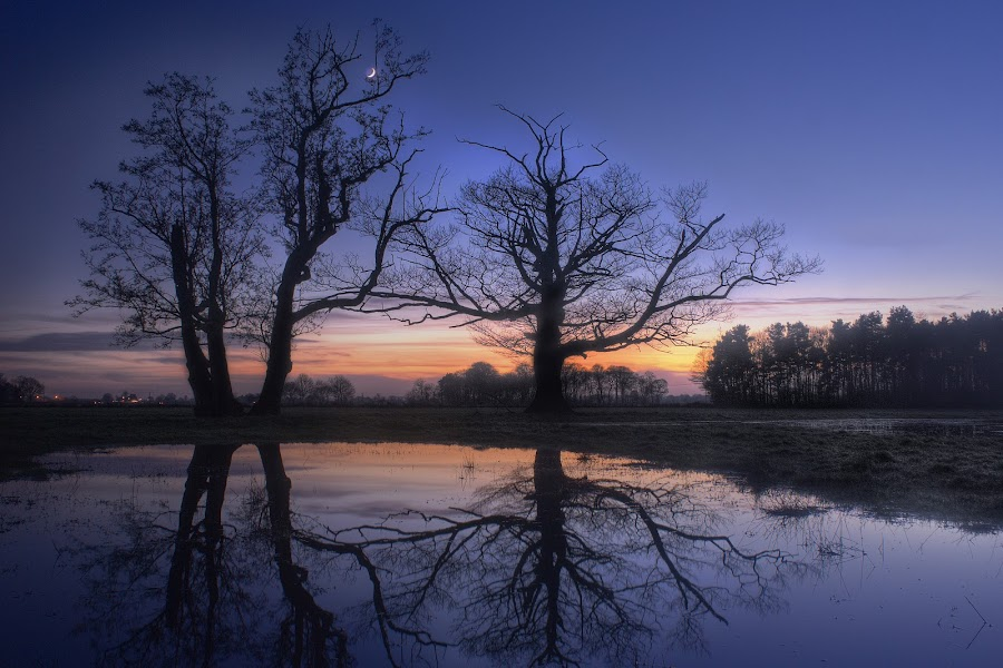 Howden reflected III by Keith Britton - Landscapes Prairies, Meadows & Fields