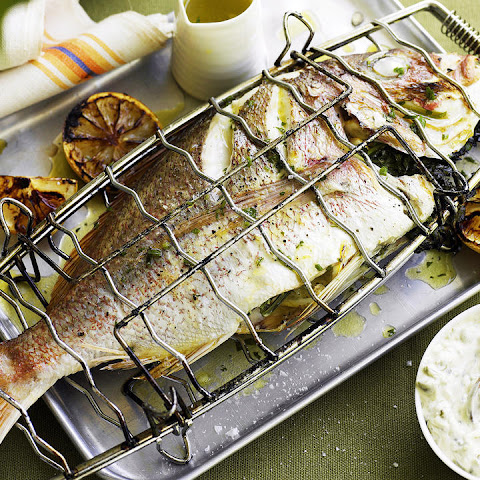 Grilled Whole Fish with Caper Mayonnaise