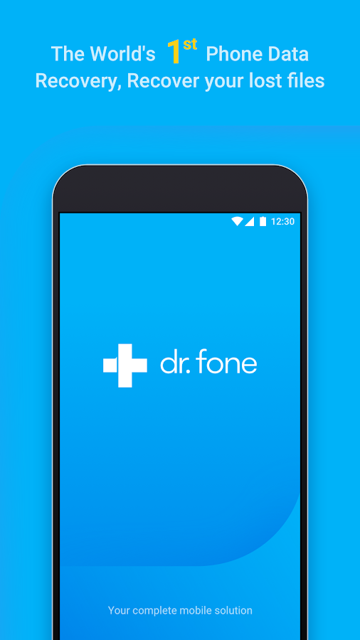 dr.fone - Recover deleted data Screenshot 0