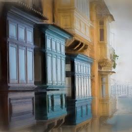 Balconi maltesi by Maurizio Santonocito - Painting All Painting ( malta )