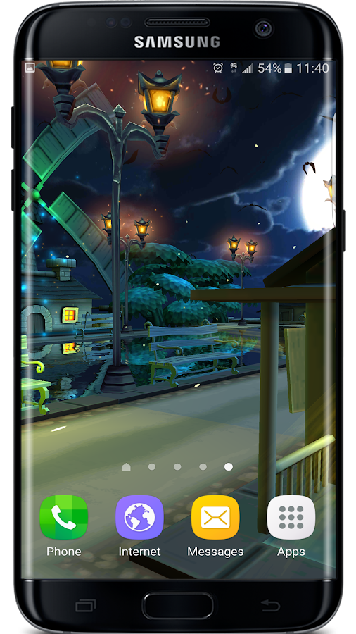 Cartoon Night Live Wallpaper Screenshot 5