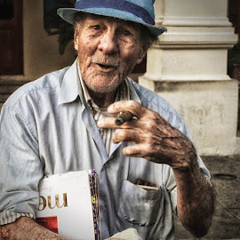 Let Me Tell You by Yolanda Frost - People Portraits of Men ( age, conversation, havana, man, portrait, cuba,  )