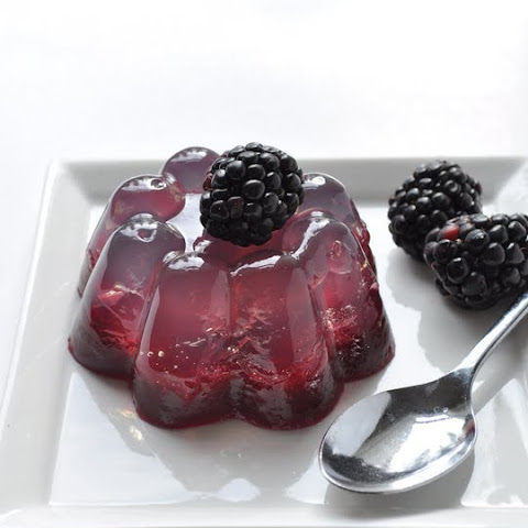 Coconut Water & Fresh Blackberry Gelatin