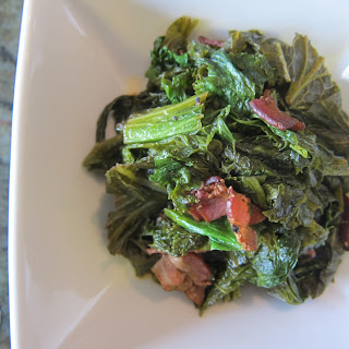 Braised Mustard Greens with Bacon