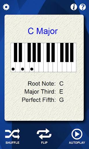 Piano Chords Flash Cards - screenshot