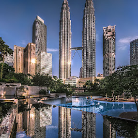KLCC early morning by Jasni Ulak - City,  Street & Park  City Parks