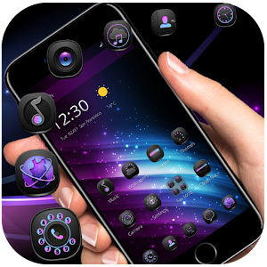 Download purple fusion light cool 3D theme For PC Windows and Mac