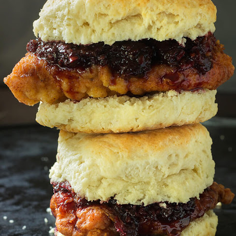 Buttermilk Chicken Biscuit with Blackberry Habanero Sauce