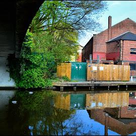bridge over canal by Nic Scott - Buildings & Architecture Bridges & Suspended Structures ( water, architecture, bridge, canal )