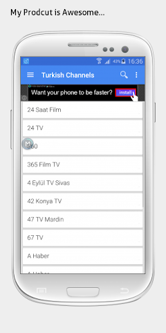 android Turkey TV sat info Screenshot 1