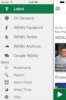 Screenshot of WEMU Public Radio App