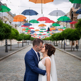 Love in color by Crestez Lucian - Wedding Bride & Groom ( bride, love, groom, braila, color, wedding, happines )