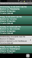 Screenshot of Schedule Boston Celtics fans