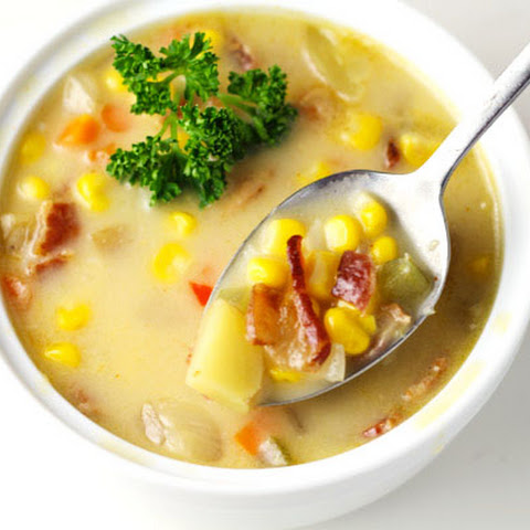 Southern Style Corn Chowder with Bacon