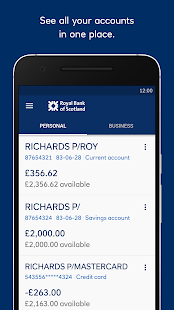 Royal Bank, RBS screenshot for Android