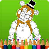 Coloring Book at Five Nights APK for Bluestacks