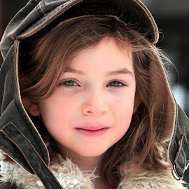 Paige by Sandy Considine - Babies & Children Child Portraits ( bomber hat, green eyes, brown hair )