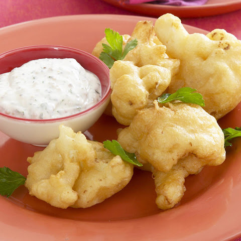 Crispy Cauliflower with Yogurt-Mustard Sauce
