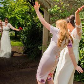 Wedding Fun Times by Gordon Bain - Wedding Other ( fun pose ., garden mirror )