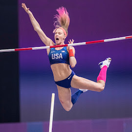 The Gold Medal vault! by Ron Russell - Sports & Fitness Running ( athletics, female, sport, vault, running, jumping pole vault )