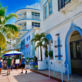 by Victoria Eversole - City,  Street & Park  Markets & Shops ( miami beach shopping, tropical cities, urban landscape )