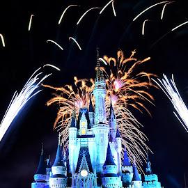 Disney castle on fire ! by Amol Polke - Abstract Fire & Fireworks
