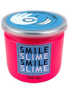 Слайм-лизун Медуза розовый неон, 150 мл.