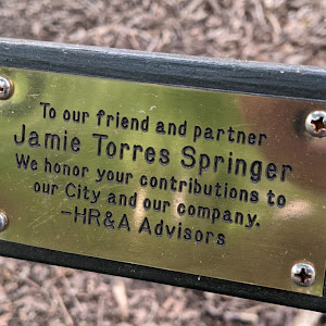 To our friend and partner Jamie Torres Springer We honor your contributions to our City and our company. -HR&A AdvisorsSubmitted by @lampbane