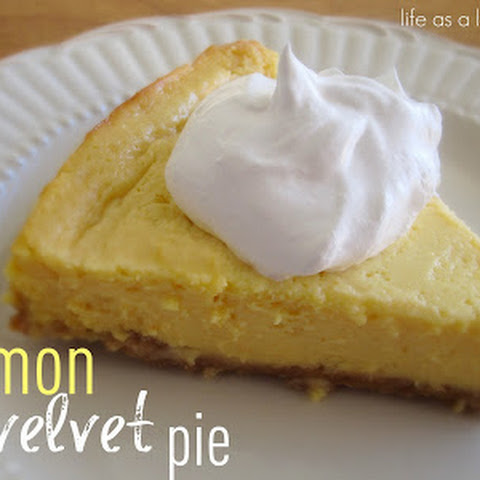 Lemon Velvet Pie