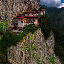 Paro Taktsang, Tigers Nest, Paro, Bhutan by Ketan Vikamsey - Landscapes Mountains & Hills ( pic of the day, pano, natgeohd, fotorbit, great nature, natgeo, trek, photo of the day, bbctravels, paro taktsang, ketan vikamsey, canon5dmarkiv, canonusa, wonderful places, lonelyplanet, lonelyplanetmagazineindia, worldphotographicforum, bhutan tourism, canonphotography, monastery, kv kliks, natgeotravel, gross national happiness, travel the world pix, tigers nest )