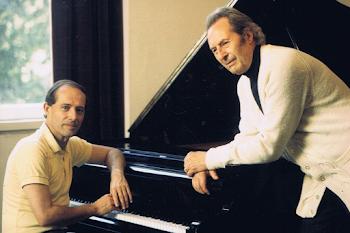 With Carlo Maria Giulini, Artist's Room, Muzikverein, Vienna, 1993 (2)
