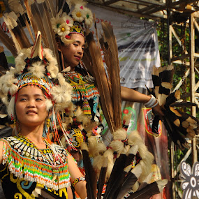Dayak dancers by JudiEndjun Ultrasound - Artistic Objects Clothing & Accessories