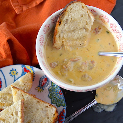 Beer Cheddar Chowder with Bratwurst