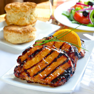 Grilled Pork Chops With Orange Glaze Recipes
