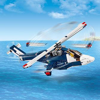 Синий реактивный самолет