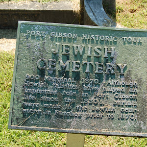 900 Marginal. 1870. Although Jewish families have played an important role in Port Gibson life since the 1830's, burials were made in the Jewish cemetery in Natchez prior to 1870.