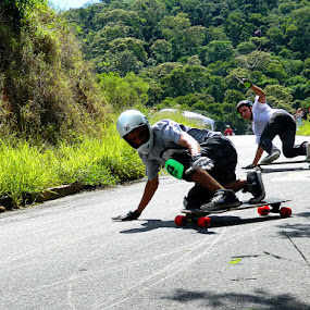 Skate Downhill Slide by Leonardo Cardoso - Sports & Fitness Skateboarding ( skate, downhill, longboard, slide, skateboard, sk8 )