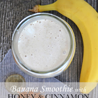 Banana Smoothies with Honey & Cinnamon