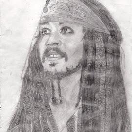Captain Jack Sparrow by Deborah Bell - Drawing All Drawing ( johnny depp, jack sparrow, pirates of the caribbean, captain, pirate )