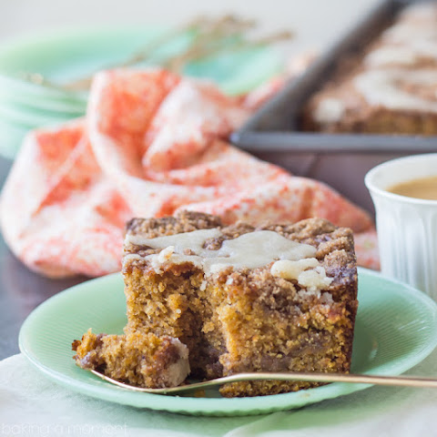 Buttered Rum and Candied Sweet Potato Crumb Cake