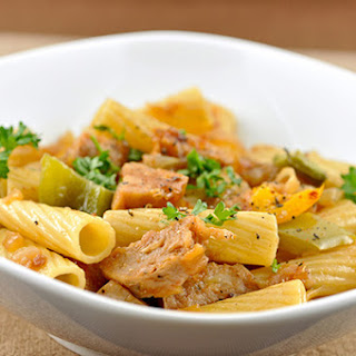 Rigatoni with Sausage, Peppers and Caramelized Onions