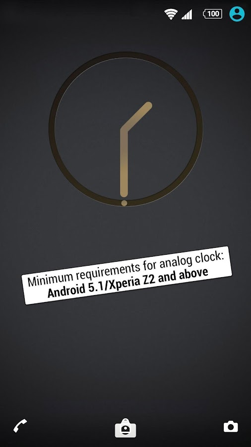 XPERIA™ Carbon Gold Theme Screenshot 2